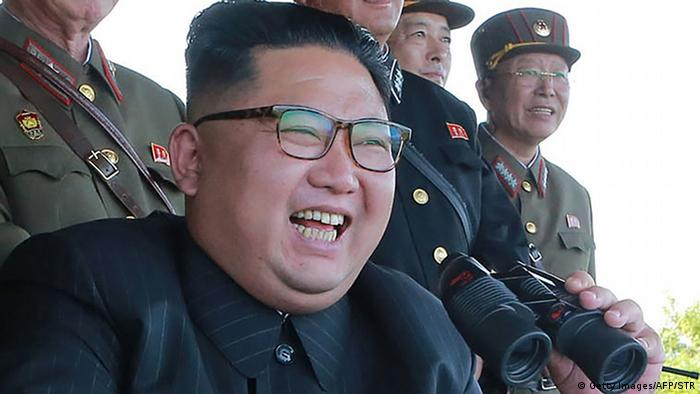 North Korean leader Kim Jong-Un presides over a target strike exercise
