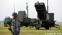 29.08.2017 A Japan Self-Defense Forces (JSDF) soldier takes part in a drill to mobilise their Patriot Advanced Capability-3 (PAC-3) missile unit in response to a recent missile launch by North Korea, at U.S. Air Force Yokota Air Base in Fussa on the outskirts of Tokyo, Japan August 29, 2017. REUTERS/Issei Kato