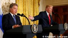 USA Sauli Niinisto und Donald Trump in Washington