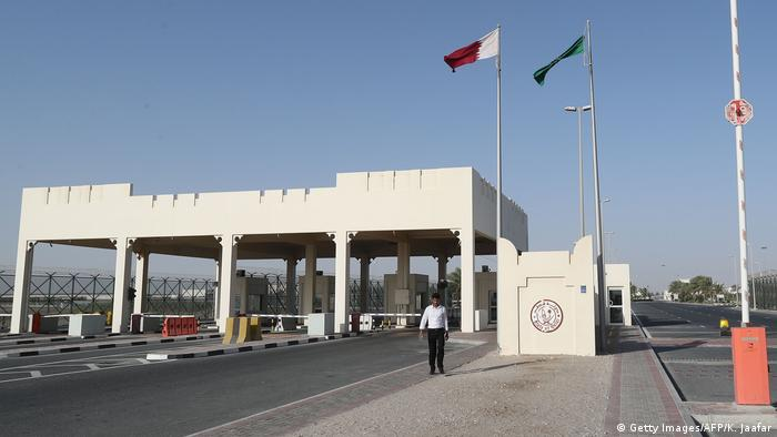 Katar Grenze zu Saudi-Arabien (Getty Images/AFP/K. Jaafar)