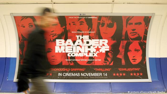 The Baader Meinhof Complex poster in London