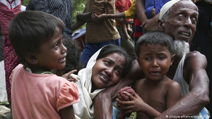 Crying Rohingya in Myanmar