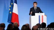 Frankreich Präsident Macron präsentiert in einer Rede vor den französischen Botschaftern die Grundlinien seiner Außenpolitik