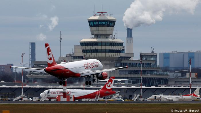 Air Berlin plane takes off from Tegel