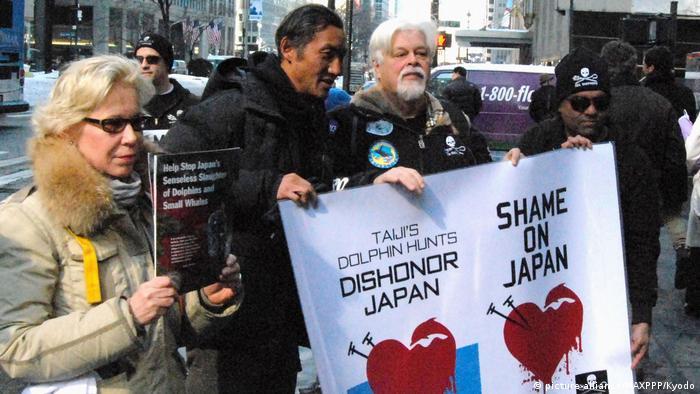 USA Sea Shepherds Aktivisten protestieren gegen Kampf gegen japanische Walfänger