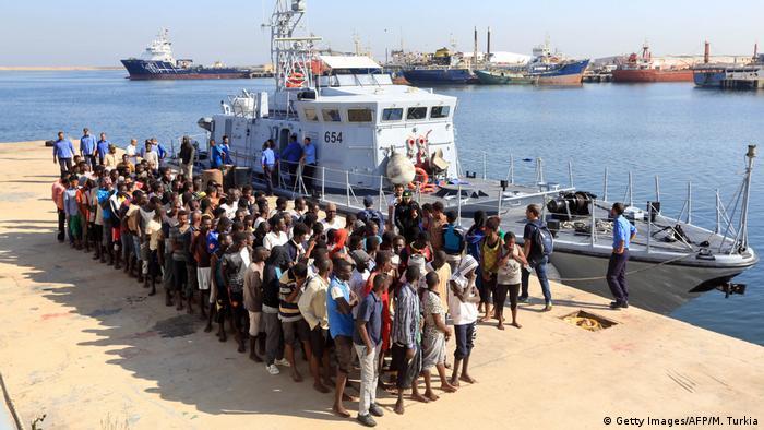 Libyen Zentrum für Bekämpfung der illegalen Migration in Tripoli