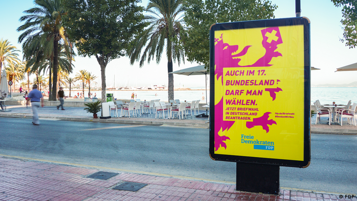 FDP campaign poster seen in Majorca, Spain