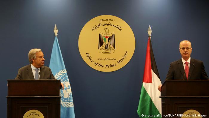 Palästina UNO-Generalsekretär Antonio Guterres besucht Westjordanland