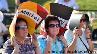 Сторонники ХДС на встрече с Ангелой Меркель