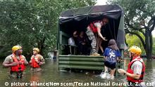 Soldiers with the Texas Army National Guard rescue Houston residents as floodwaters from Hurricane Harvey continue to rise, Monday, August 28, 2017. More than 12,000 members of the Texas National Guard have been called out to support local authorities in response to the storm. Lt. Zachary West/Texas National Guard/UPI Photo via Newscom picture alliance |