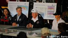 USA Tropensturm Harvey- Präsident Trump kommt in Texas an