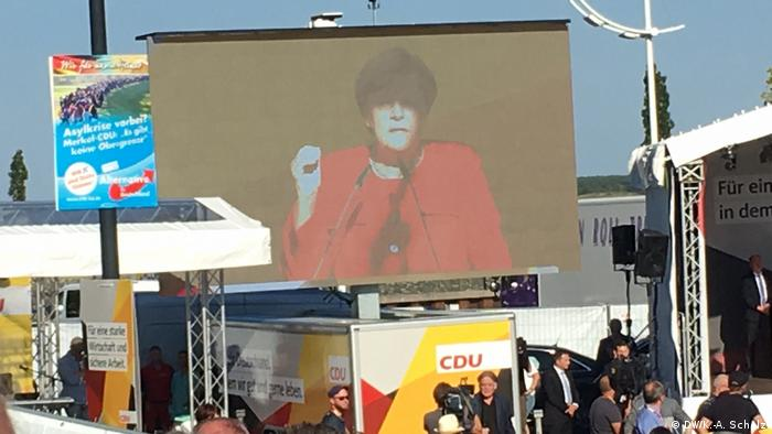 Angela Merkel camapaign rally in Bitterfeld