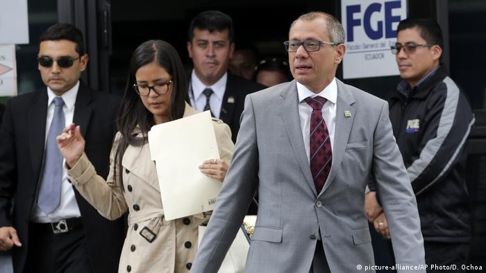 Ecuador Vize-Präsident Jorge Glas in Quito (picture-alliance/AP Photo/D. Ochoa)