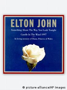 CD cover of the release of Candle in the Wind with Elton John 1997