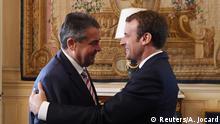 Frankreich | Treffen Präsident Macron mit Außenminister Gabriel