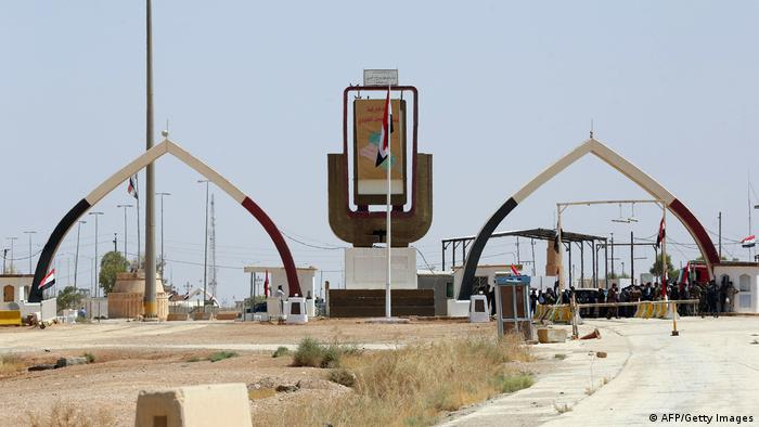 The border between Iraq and Jordan at Karameh, Turabil