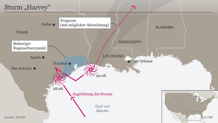 Sturm Harvey zieht von Texas nach Louisiana | Aktuell Amerika | DW ...