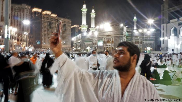 Haddsch Islamische Pilgerfahrt nach Mekka | Kabaa, Große Moschee (Getty Images/AFP/K. Sahib)