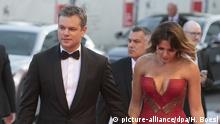 Venedig Filmfestival - 74. Filmfestspiele - Matt Damon und Luciana Barroso