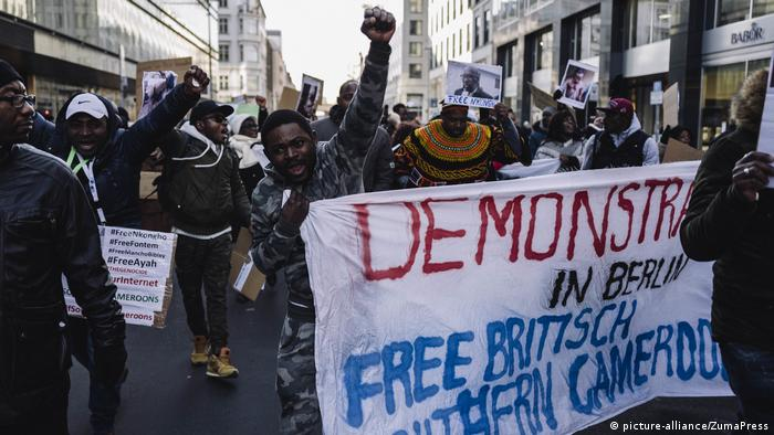 The separatist movement has spread around the world, with members of Cameroon's Anglophone minority also holding demonstrations in major cities like Berlin