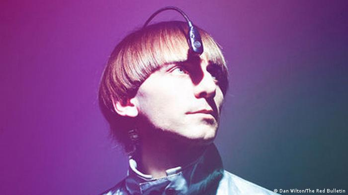 Neil Harbisson, who has an antenna growing from his head (Dan Wilton/The Red Bulletin)