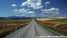 USA Landstraße in Montana