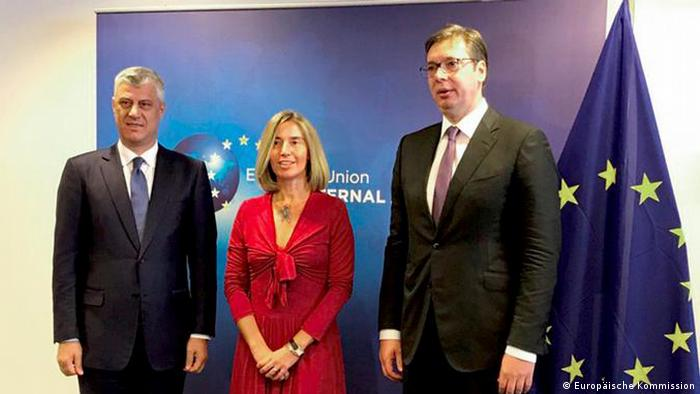 Brüssel, Hashim Thaci, Federica Mogherini, Aleksandar Vucic