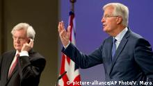 Brexit-Verhandlungsrunde Michel Barnier und David Davis