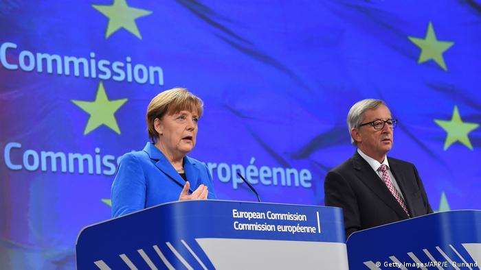 Belgien EU Angela Merkel und Jean-Claude Juncke