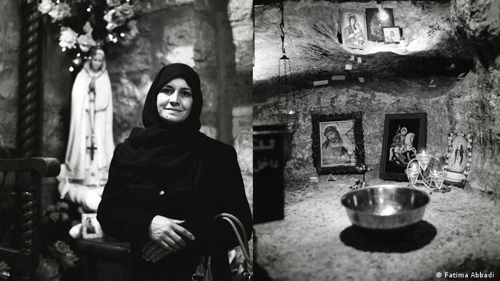 A woman in a house