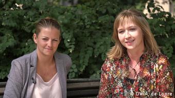 Polish activists Natalia Macyra and Katarzyna Koziol