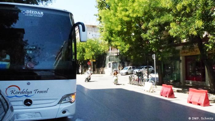 Dozens of Turkish tourist buses daily bring visitors to Ataturk's birth home in Thessaloniki