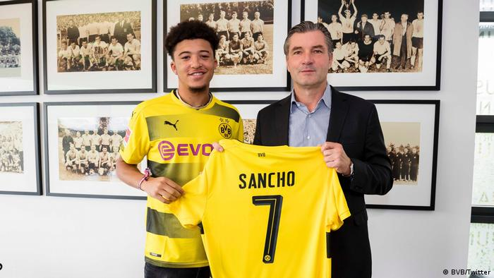 Jadon Sancho (Borussia Dortmund) - Highest paid teenagers
