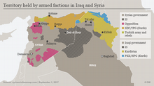 Infographic map of Syria.