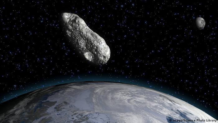 Artwork showing Asteroid Florence close to Earth (Imago/Science Photo Library)