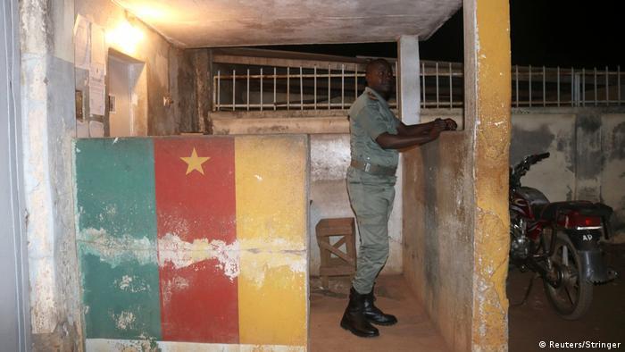 A guard at the prison in 2017