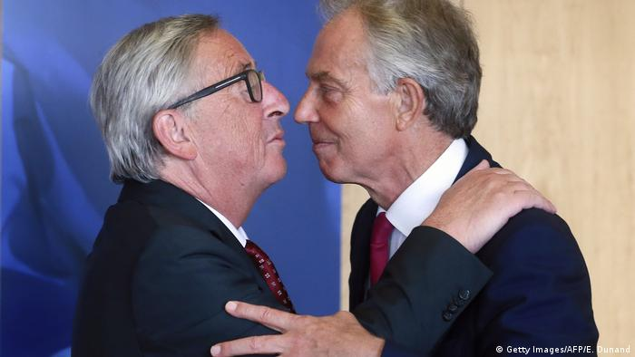 Brüssel Blair bei Juncker (Getty Images/AFP/E. Dunand)