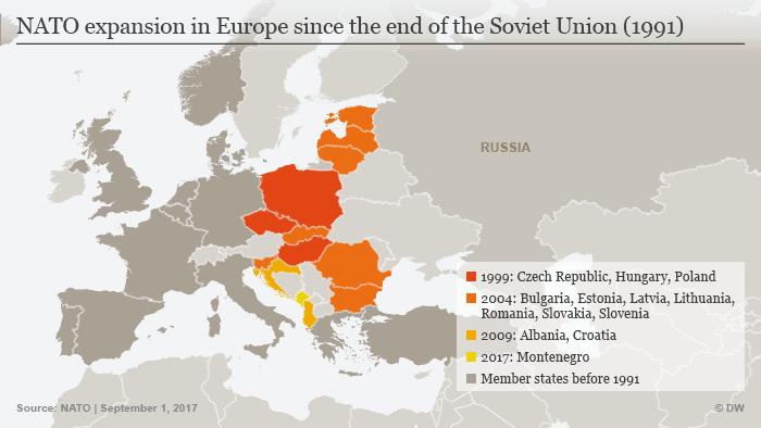 Infografik NATO Expansion Europa ENG