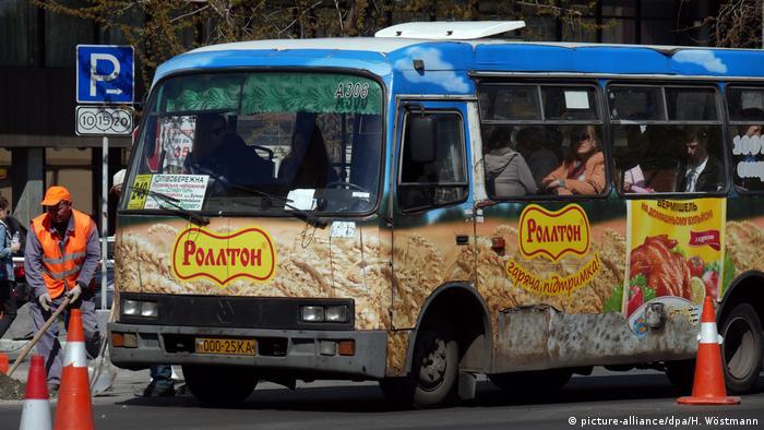 Ukraine Sammeltaxi Marschrutka in Kiew