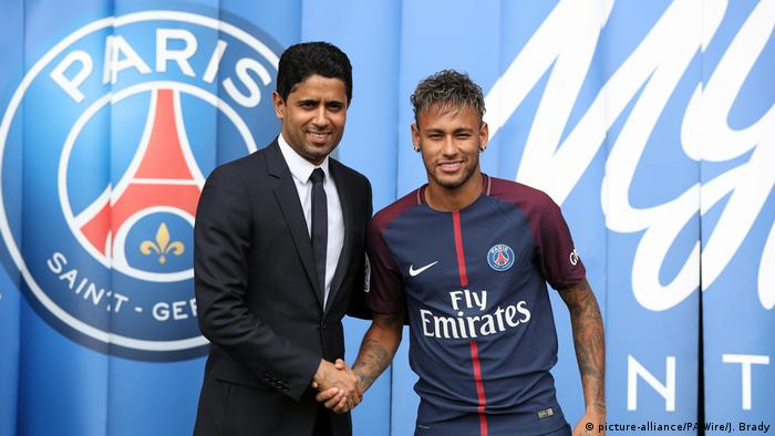 Paris Saint-Germain Vorstellung Neymar (picture-alliance/PA Wire/J. Brady)