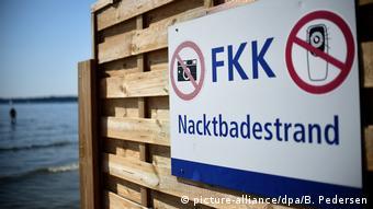 Nudist area at Wannsee Lake