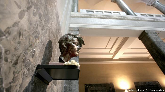 Busto de Sophie Scholl en la Universidad de Múnich, el lugar donde fue detenida en 1943.
