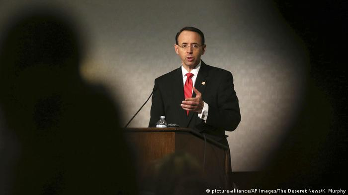 USA Salt Lake City - Rod Rosenstein bei 10th Annual Utah National Security and Anti-Terrorism Conference (picture-alliance/AP Images/The Deseret News/K. Murphy)