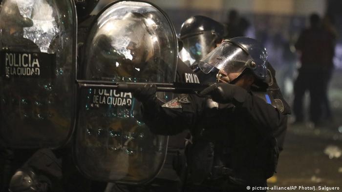 Foto de policías de Argentina