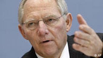 German Interior Minister Wolfgang Schaeuble