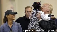 USA Präsident Trump besucht erneut Überschwemmungsgebiete