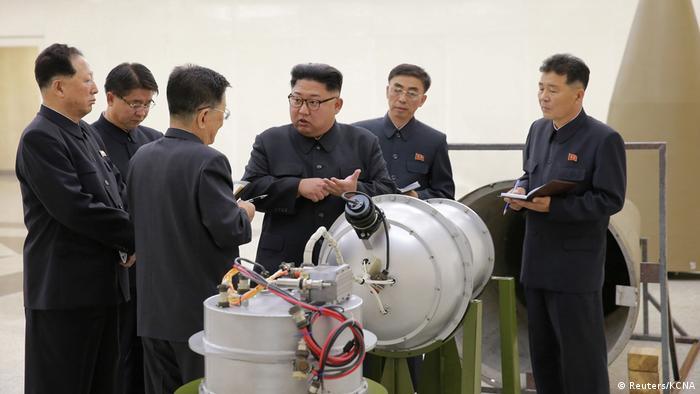 North Korean leader Kim Jong Un visiting a nuclear research facility (Reuters/KCNA)