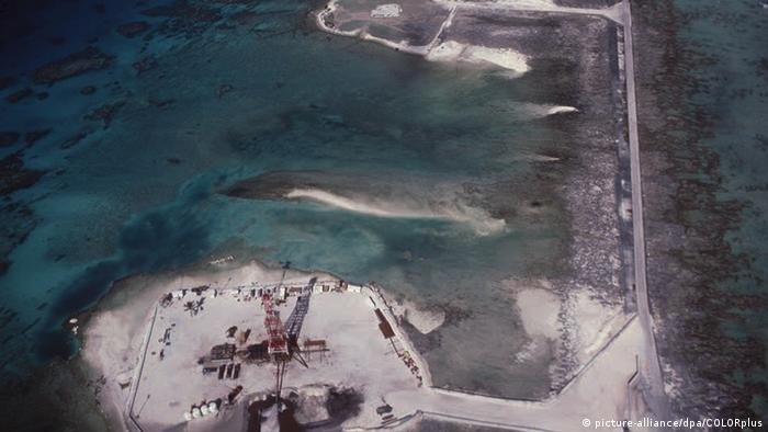 File photo taken in October 1985 of the French nuclear testing site on the island of Mururoa in the South Pacific