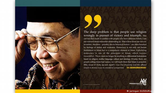 Indonesien Plakat Gus Dur