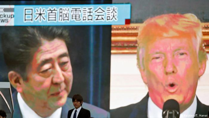 Japanese PM Shinzo Abe and US President Donald Trump